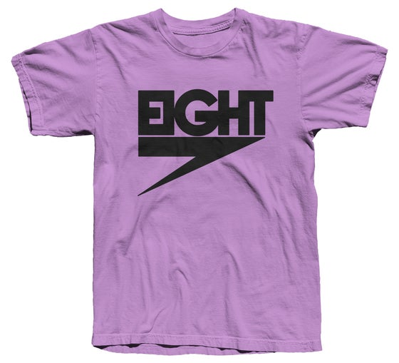 Image of Electric Eight Tee (Black/Purple)