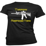 "Image of Women Black ""Tyranny Response Team"" Short Sleeve"