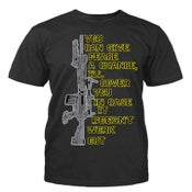 """Image of Men Black """"I will cover if it doesn't work out"""" Short Sleeve"""