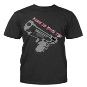 """Image of Men Black """"Peace Be With You"""" Short Sleeve"""