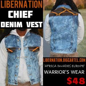 "Image of Libernation NEW ""Chief"" Denim Vest"