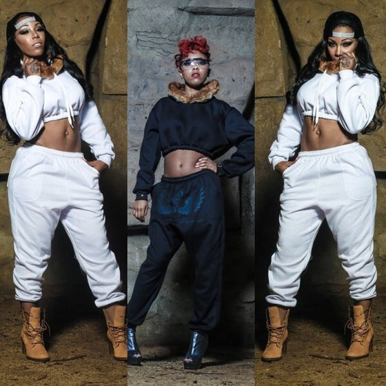 Image of S&D customized cropped woman sweatsuits