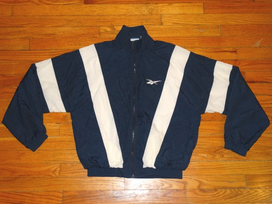 Image of (M) Men's 90's OG Reebok Striped Windbreaker