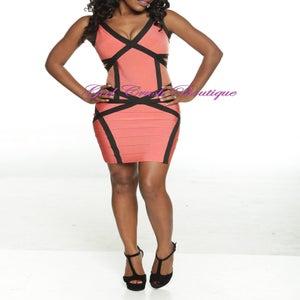 Image of Deep V Back Bandage Mesh Dress