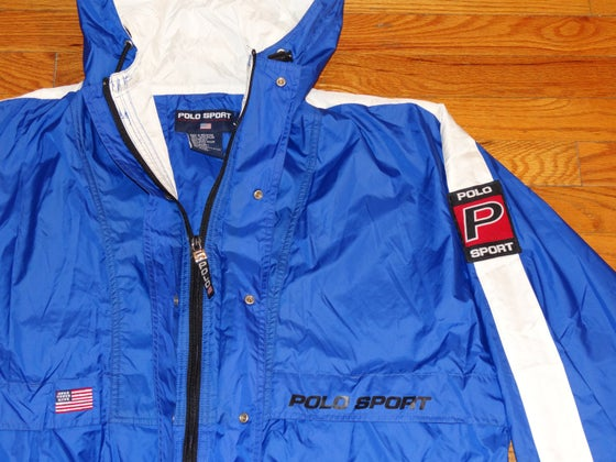 Image of (L) Deadstock Men's 90's Polo Sport OG Two-Toned Parka