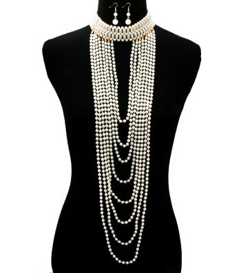 Image of Long Pearl Necklace