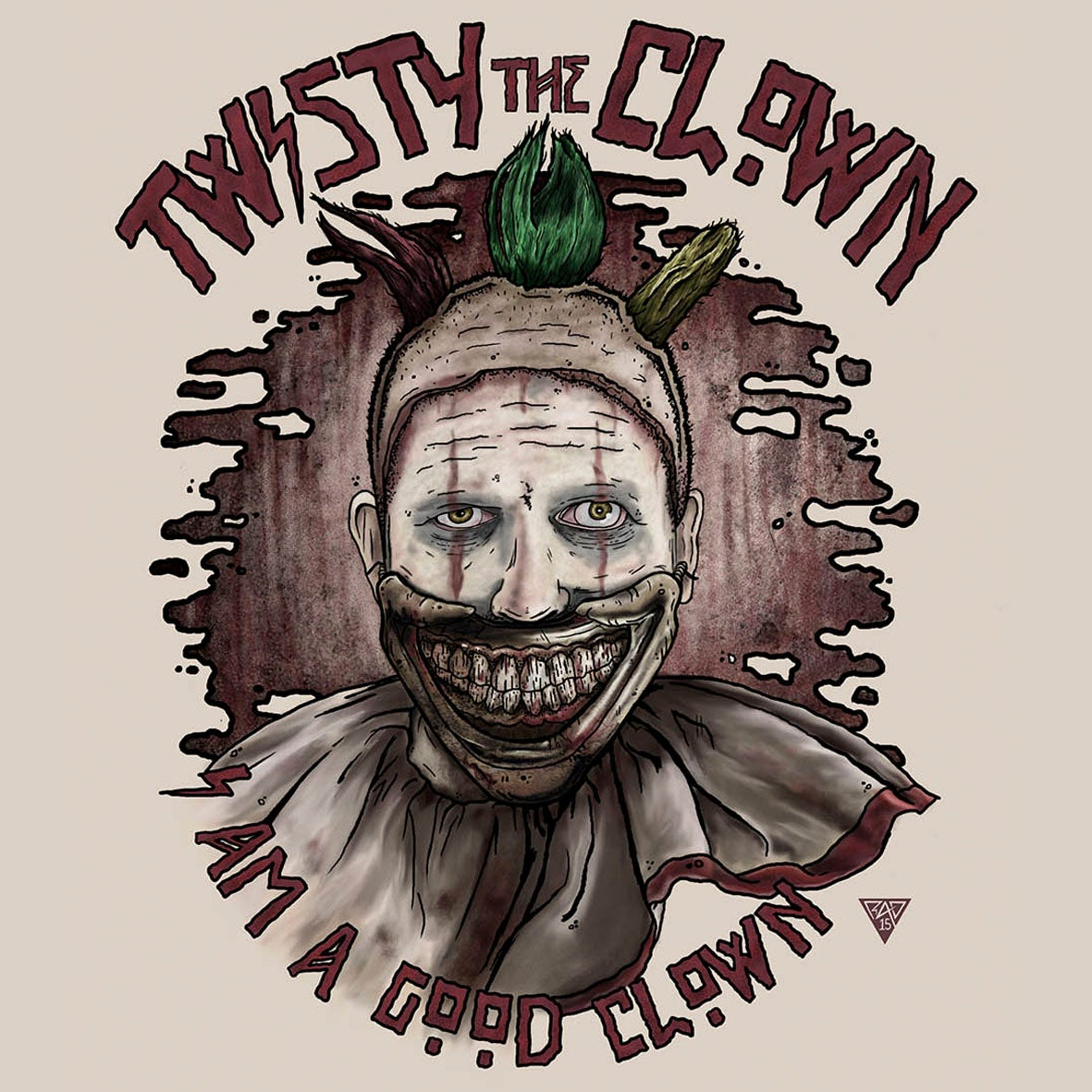 rhys auty designs u2014 twisty the clown a4