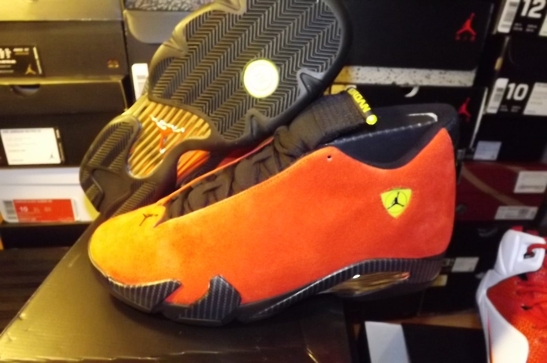 """Image of Air Jordan 14 retro red """"ferrari"""" 654459 670"""