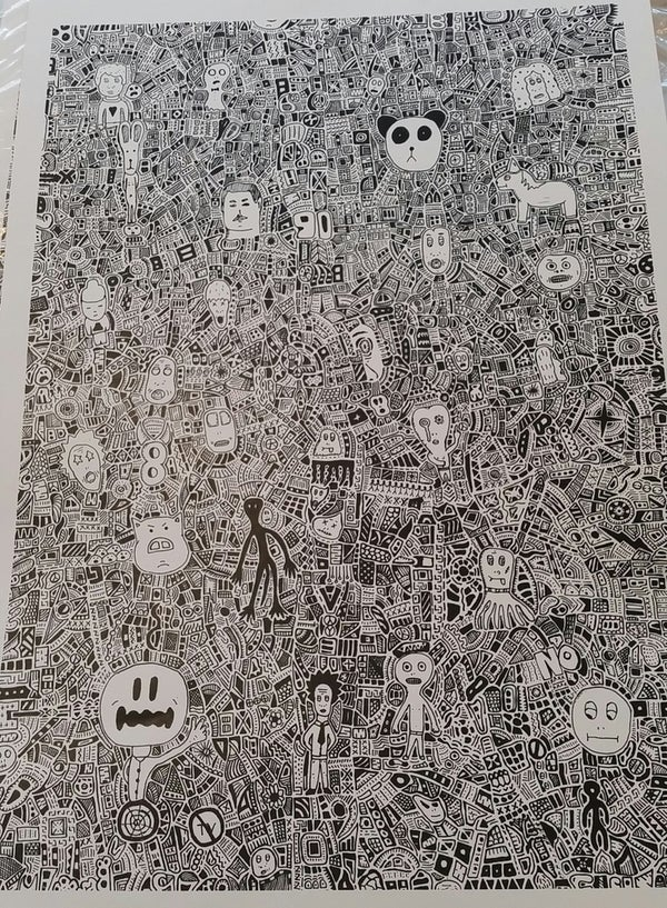 Image of Panda and Other Species Print