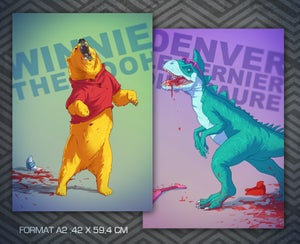 Image of Poster Winnie BADASS (recto) et Denver (verso)