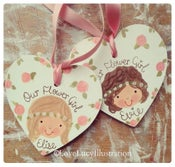 Image of Personalised Flower Girl/Bridesmaid Decoration