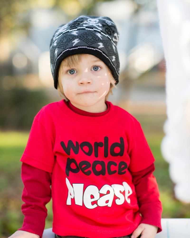 Image of Toddler & Juvy World Peace Tee