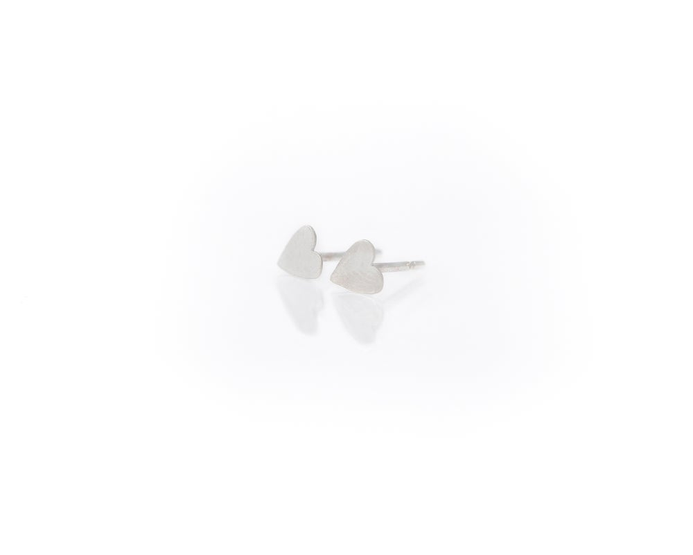 Image of Tiny Heart Post Earrings