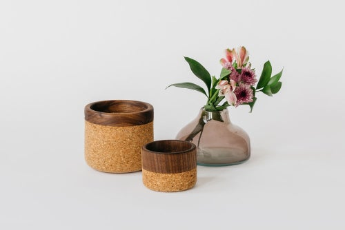 Image of Walnut + Cork Bowls