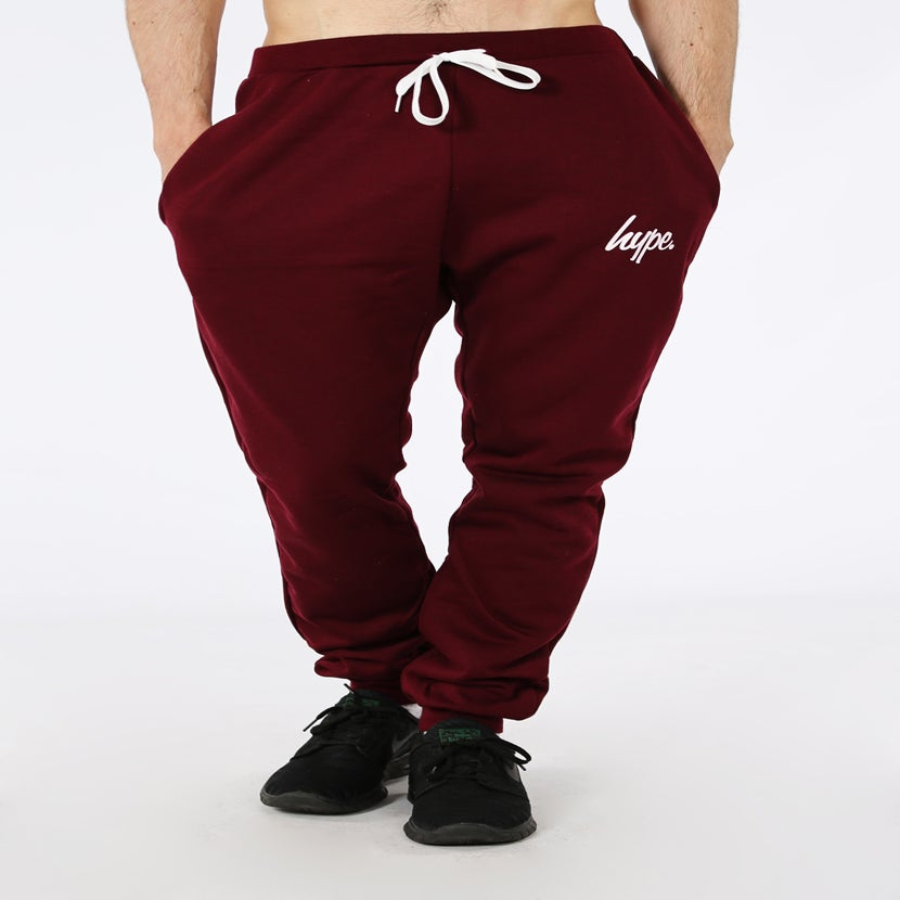Image of HYPE. CLASSIC BURGUNDY JOGGERS