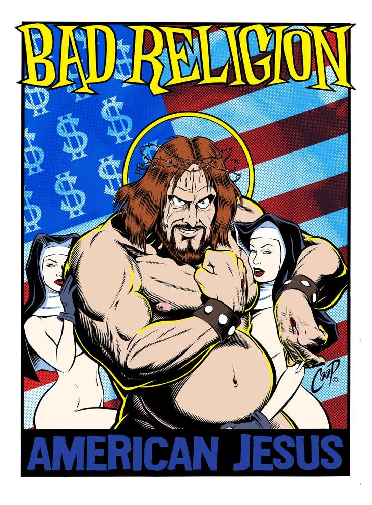 "Image of BAD RELIGION ""American Jesus"" Artist Proof"