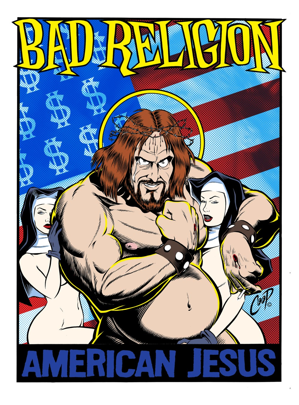 "Image of BAD RELIGION ""American Jesus"" Artist Proof"