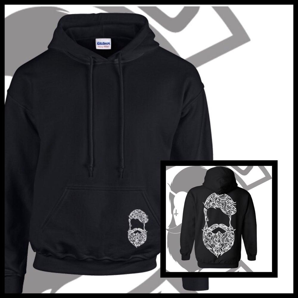 Image of Black Beard & Ink Large Patterned Logo Unisex Hoody