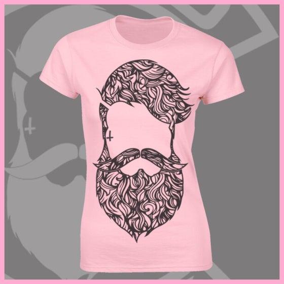 Image of Baby Pink Beard & Ink Large Patterned Logo Tee