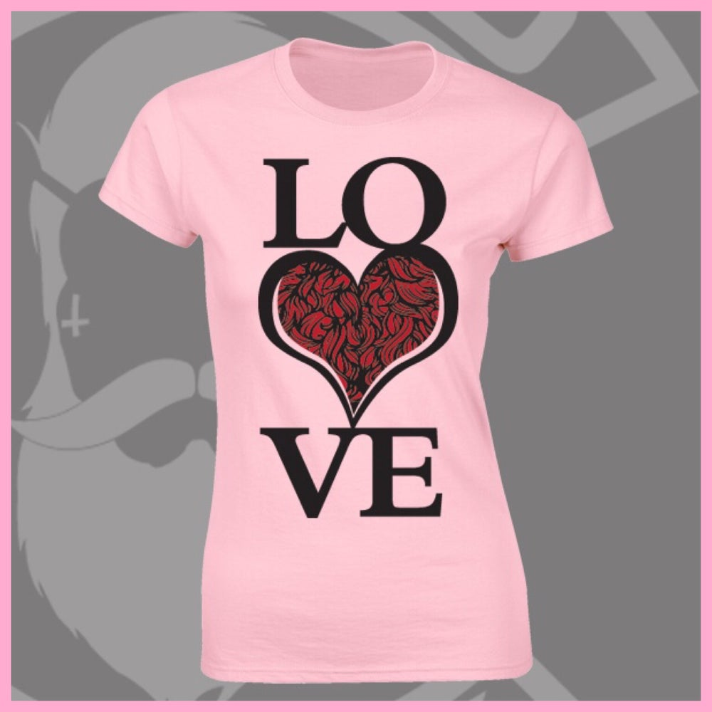 Image of Baby Pink LOVE Bearded ❤️ Logo Tee