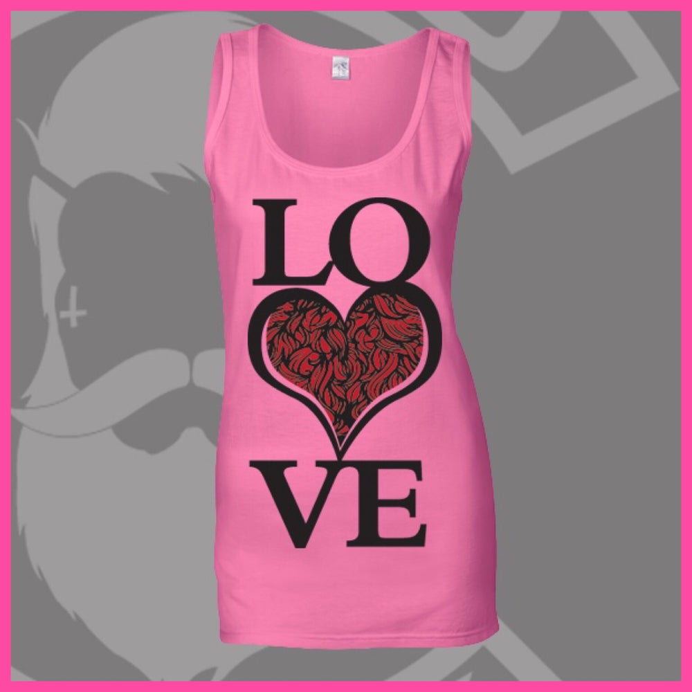 Image of Azalea Pink LOVE Bearded ❤️ Logo Vest