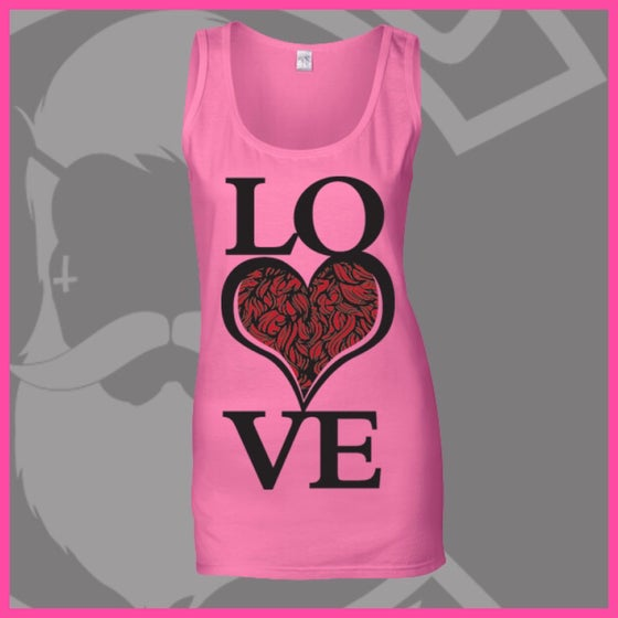 Image of Azalea Pink LOVE Bearded ❤️ Logo Vest
