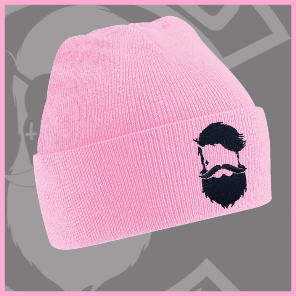 Image of Beard and Ink Unisex Baby Pink Cuffed Beanie