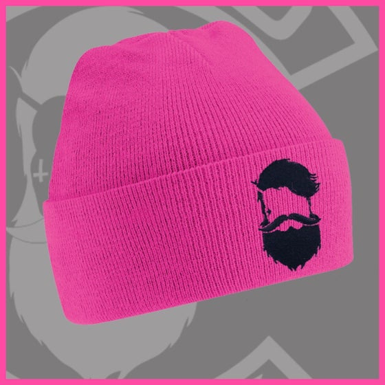 Image of Beard and Ink Unisex Fuchsia Pink Cuffed Beanie