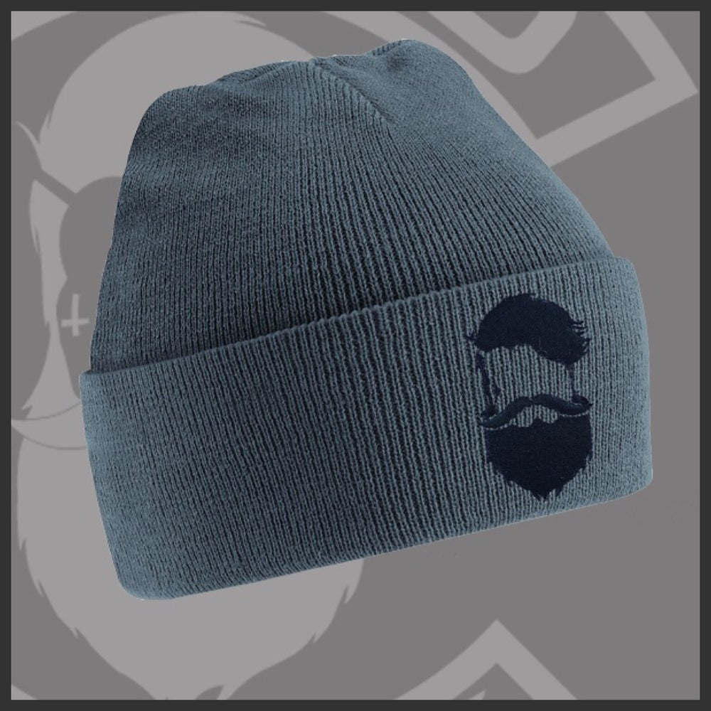 Image of Beard and Ink Unisex Graphite Grey Cuffed Beanie
