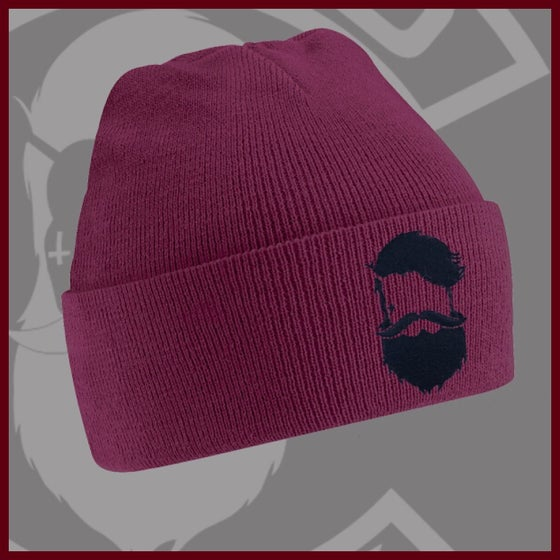 Image of Beard and Ink Unisex Burgundy Cuffed Beanie