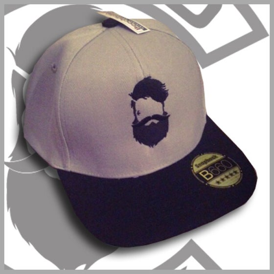 Image of Beard and Ink Unisex Grey and Black Snapback Cap