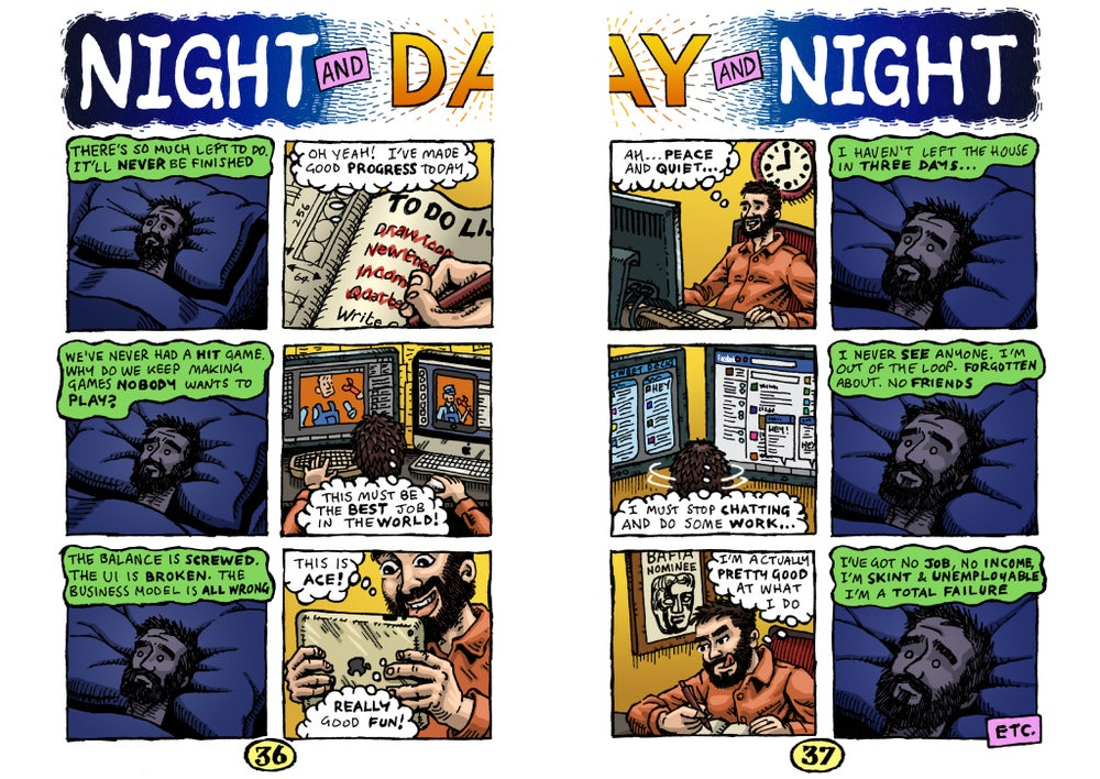 Image of Night and Day and Night comic strip