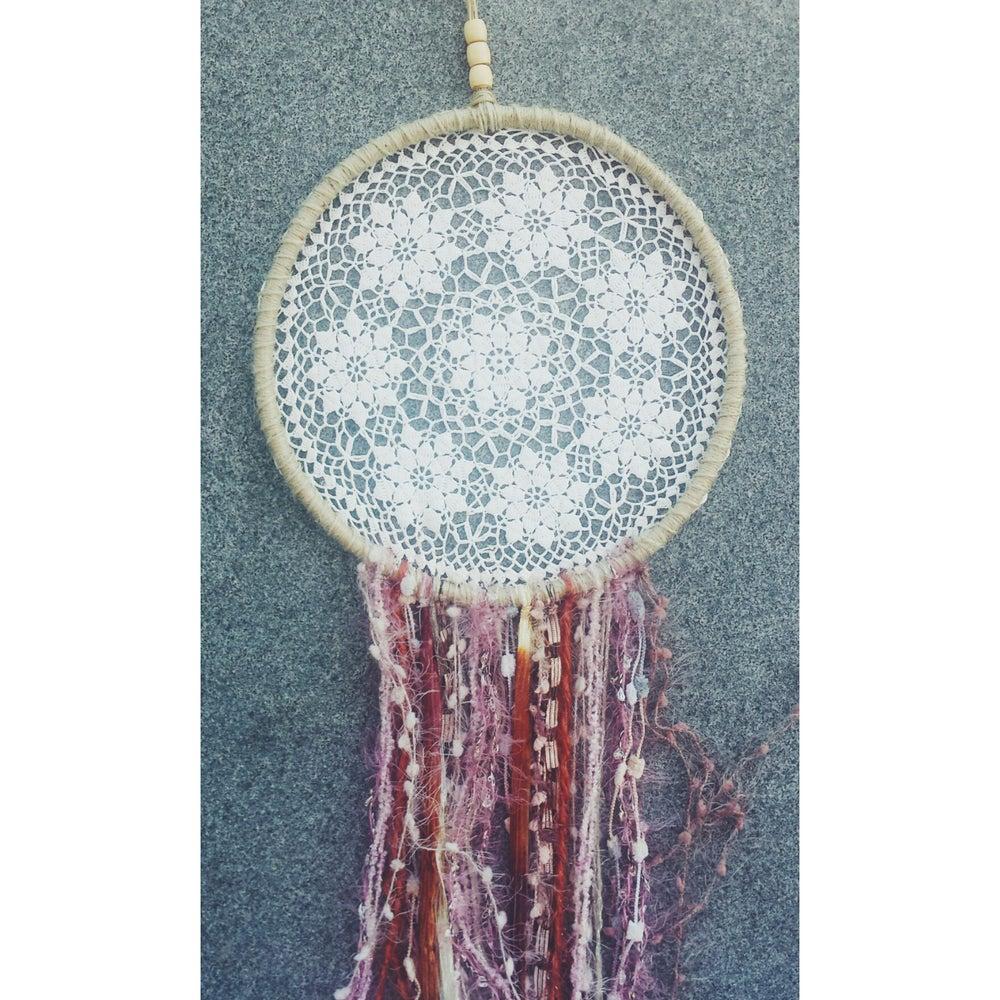 Image of 'Hippie Heart' Dreamcatcher ~ 24cm