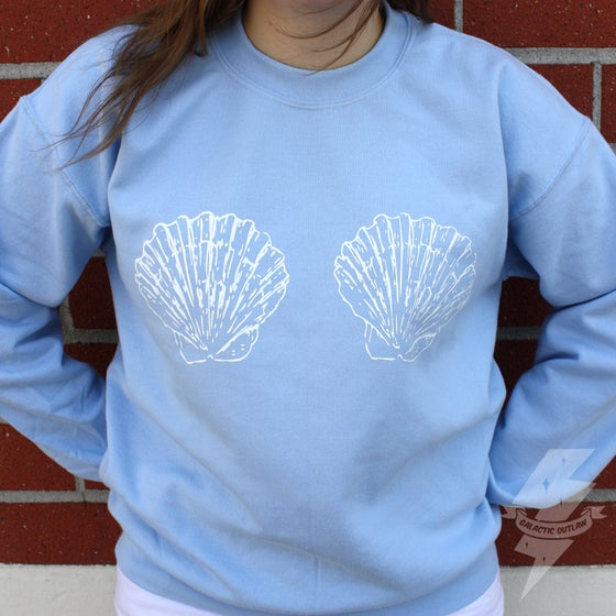 Image of Shell Boobies Crop Sweatshirt