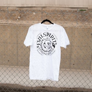 Image of DOWN ON THE STREETS! T SHIRT (WHITE)