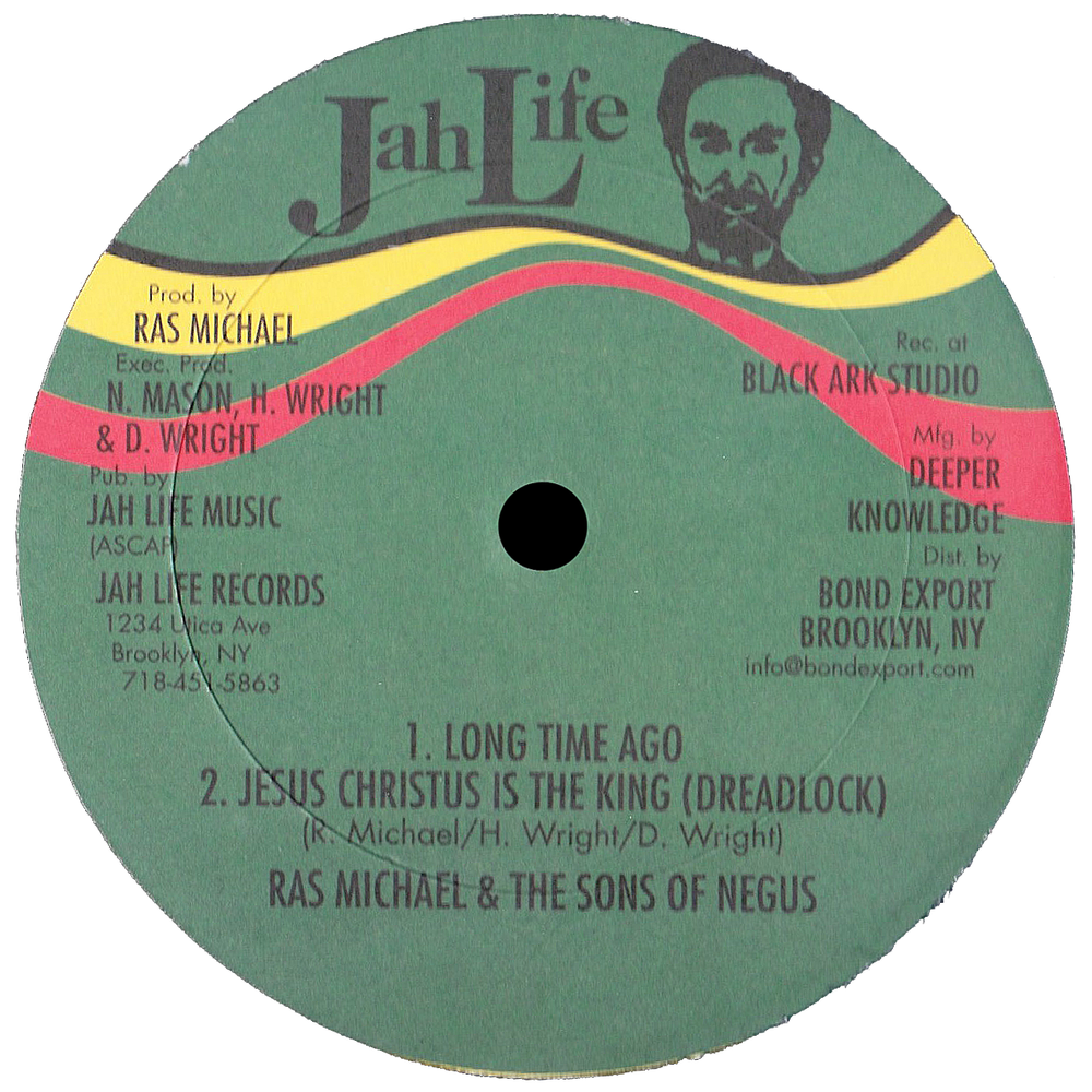 """Image of Ras Michael & The Sons of Negus - Long Time Ago / + 2 more (3 track EP) 12"""" (Jah Life)"""