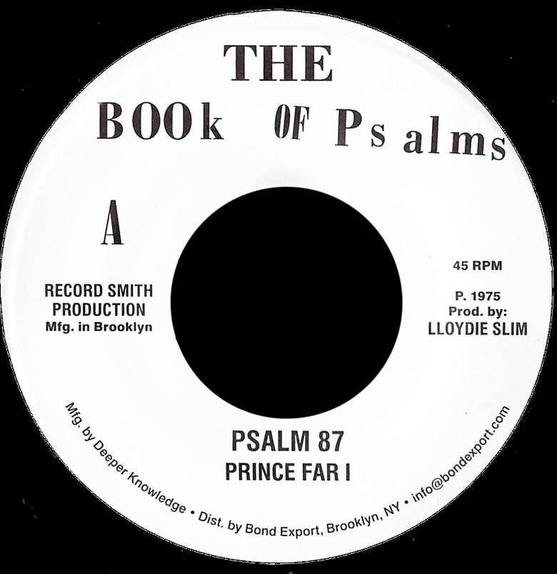 "Image of Prince Far I / Black Oney - Psalm 87 / Festival '75 7"" (Book of Psalms)"