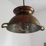 Image of Copper colander light with handles