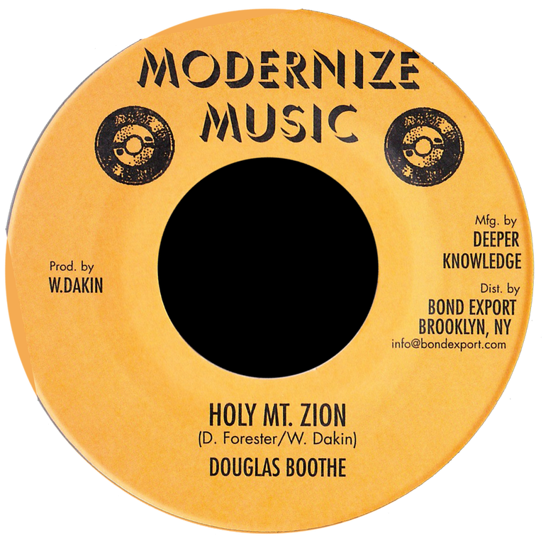 "Image of Douglas Boothe - Holy Mt. Zion 7"" (Modernize Music)"