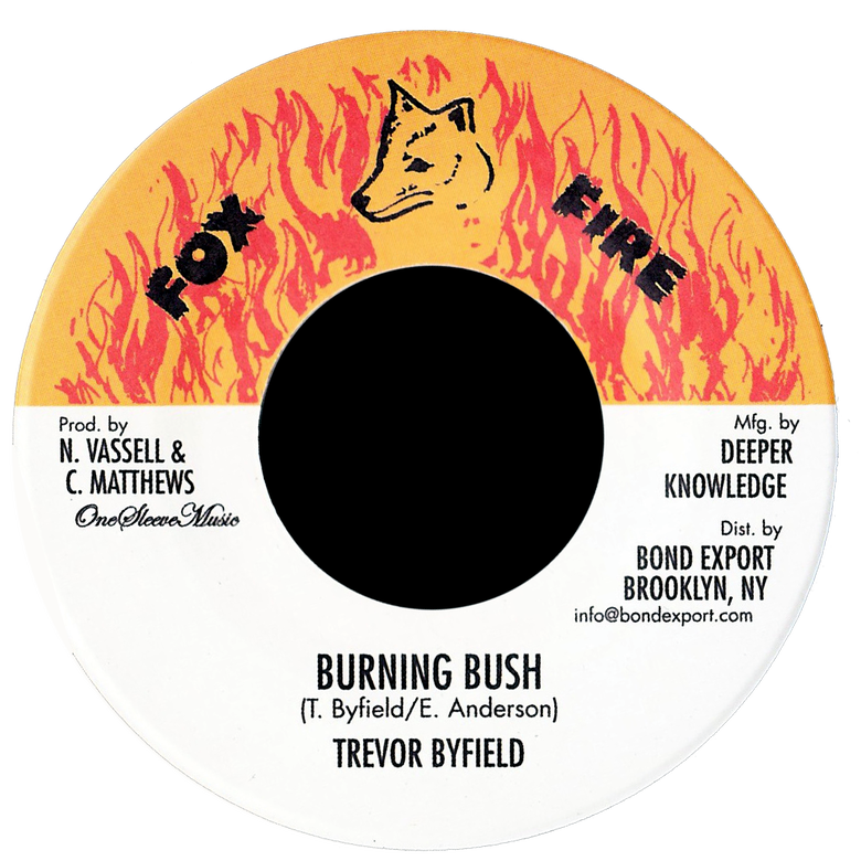 "Image of Trevor Byfield - Burning Bush 7"" (Fox Fire)"