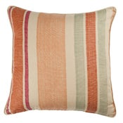 Image of Moroccan Stripe Salmon on Champagne Pillow