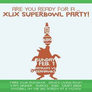 Image of Superbowl Party Invitation