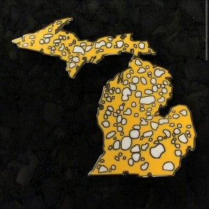 Image of Team Deathstar Hustle Slabs Michiganja hatpin