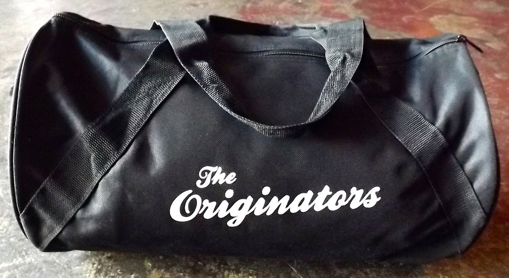 Image of ORIGINATORS SCRIPT DUFFEL BAG (BLACK)