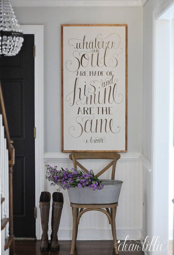 Image of Whatever Souls Handmade Oversized Wood Sign