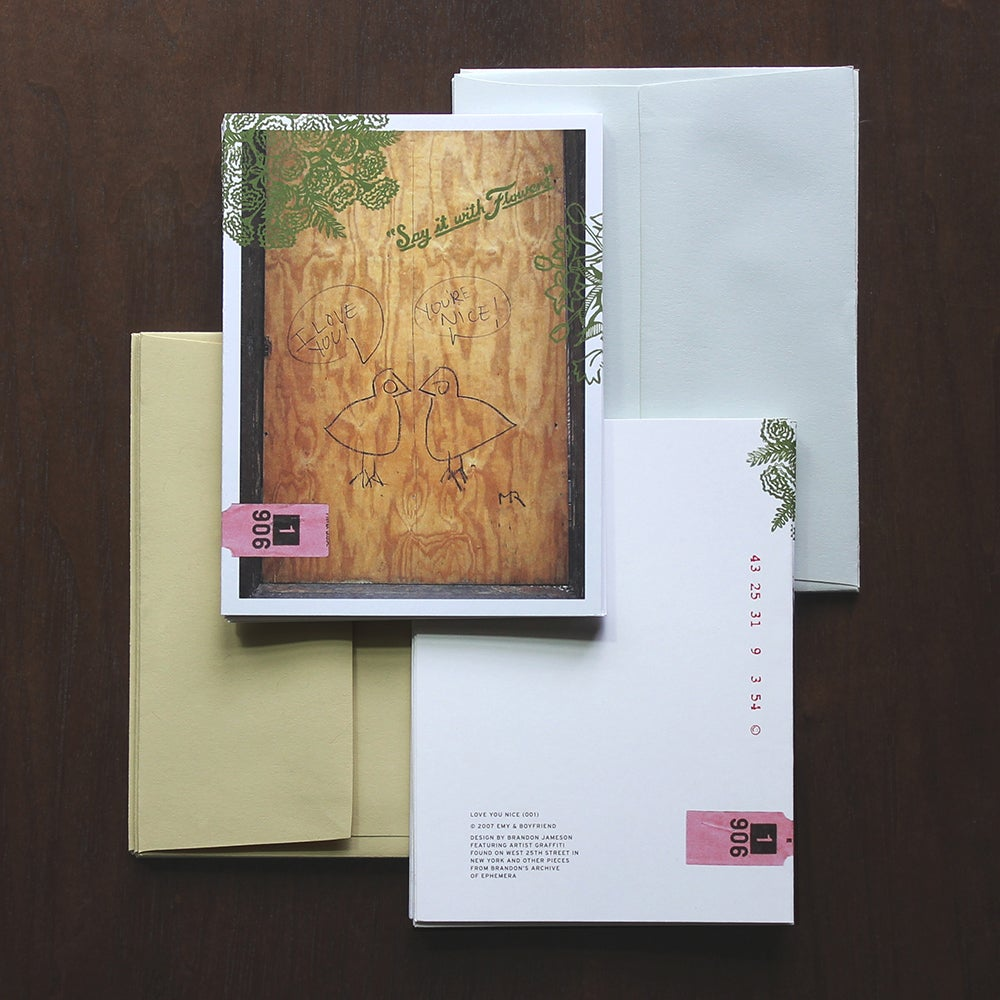 Image of Love You Nice Note Cards + Envelopes