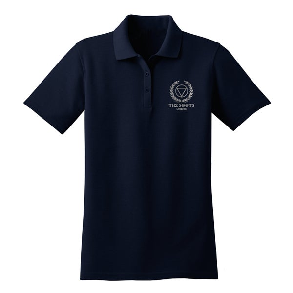 Image of 'Signature' Embroidered Polo Tee - SOOTsBLACK Collection