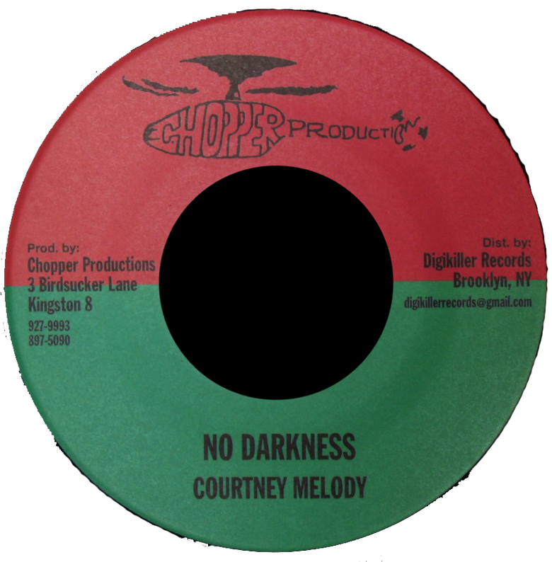 "Image of Courtney Melody - No Darkness 7"" (Chopper Productions)"