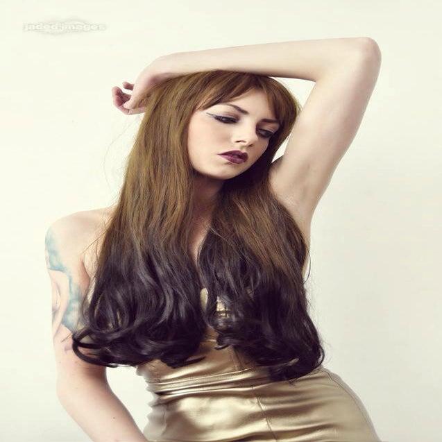 Image of Brown Ombré, Brown Black Ombré Dip Dye Gradient Natural Gothic Lolita Cosplay Wig