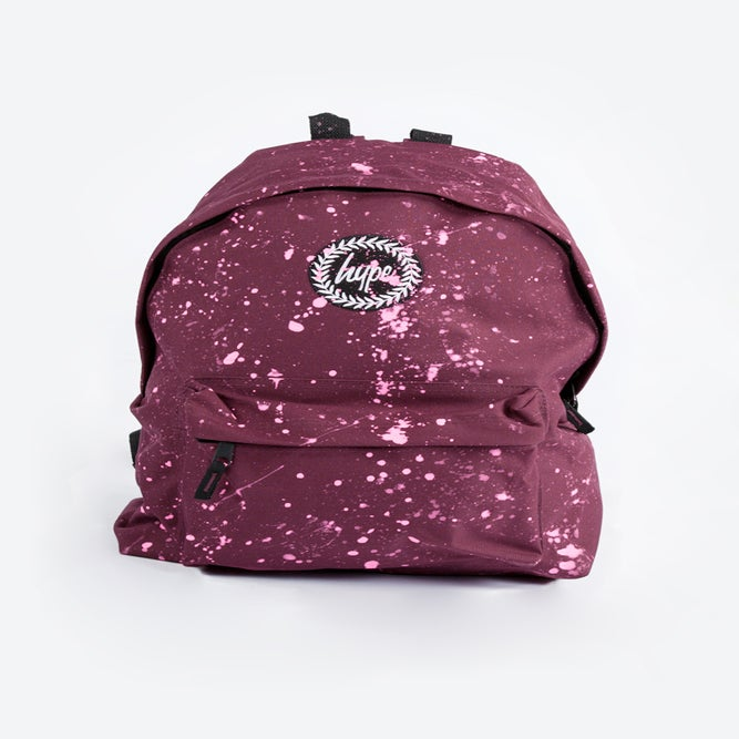 Image of HYPE.BURGUNDY SPECKLE BACKPACK